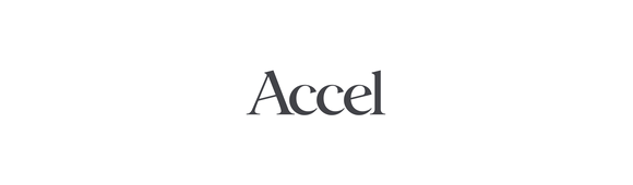 Accel logo dark grey