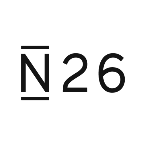 N26 logo black press